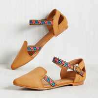 On the Cutting Edge Flat in Butterscotch | Mod Retro Vintage Flats | ModCloth.com