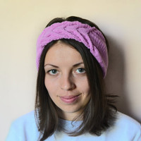 FREE SHIPPING - hand knit headband, hair accessories, ear warmer headband, knitted headbands