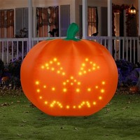 SheilaShrubs.com: Airblown® LightSync™ Singing Pumpkin 64089 by Gemmy: Halloween