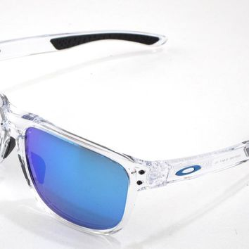 New Oakley Sunglasses Holbrook R Round Clear w/Prizm Sapphire #9377-0455 In Box