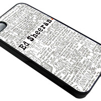 Ed Sheeran Lyrics Song iPhone 5/5S Cases - Hard Plastic, Rubber Case