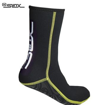 SLINX 1130 3mm Neoprene Men Women Scuba Diving Socks Swimming Swimwear Wetsuit Prevent Scratch Warm Snorkeling Spearfishing Sock
