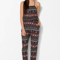 Band Of Gypsies Open-Back Halter Jumpsuit - Urban Outfitters