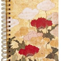 Japanese Poppies Spiral Lined Journal (6x8.5)