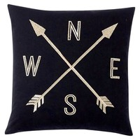 The Emily + Meritt Compass Pillow Cover