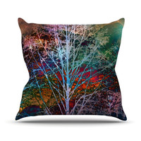 """Sylvia Cook """"Trees in the Night"""" Throw Pillow"""
