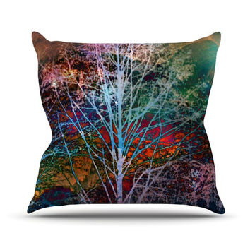 "Sylvia Cook ""Trees in the Night"" Throw Pillow"