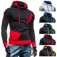 Hoodies Mosaic Pullover Korean Men Jacket [6528748675]