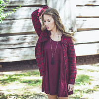 Festival Ready Flannel in Red and Black