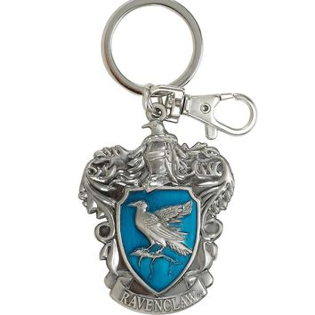 Licensed cool Harry Potter Ravenclaw House Crest Bird Metal Keychain Key Ring Key Chain NEW
