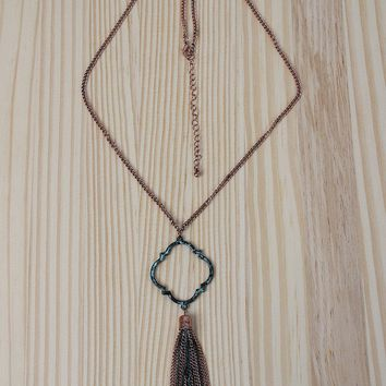 Filigree Tassel Necklace