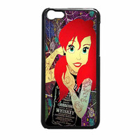 Ariel Little Mermaid Tattoo With Flower Cover iPhone 5c Case