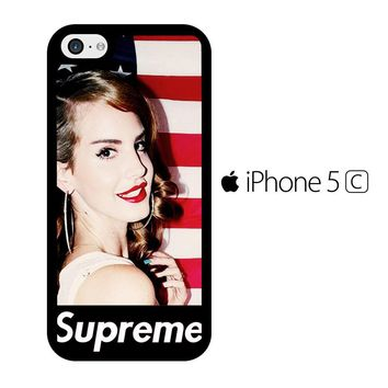 Lana Del Rey Supreme American Flag iPhone 5C Case