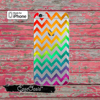 Rainbow Ombre Chevron Pattern Cute Clear Rubber Phone Case For iPhone 6 and iPhone 6 Plus + Transparent Crystal Custom Case
