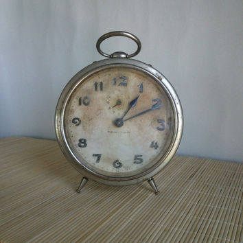 Antique vintage 1940s rare Kienzle TAM TAM / German working Alarm Clock