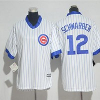 Women's Chicago Cubs #12 Kyle Schwarber Cooperstown Cool Base Player Jersey