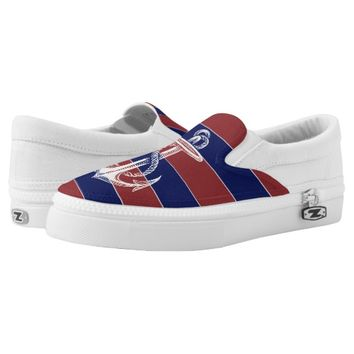 Vintage Anchor Red Blue Stripe Shoes Printed Shoes