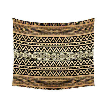 Wall Tapestry, tribal tapestry, Bohemian decor, boho tapestry, hippie wall decor, beach blanket, sofa throw, tribal pattern, mocha brown