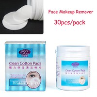 30pcs/Pack Clean Cotton Eyelash Makeup Remover Wipes Cleanser Protein Face Makeup Protein Remover Pads For Eyelash Extensions