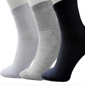 3 Pairs/Lot Fashion New Arrival Women Socks Soft Solid White Grey Black Color Female Casual Breathable Sock Girl Hot Sox