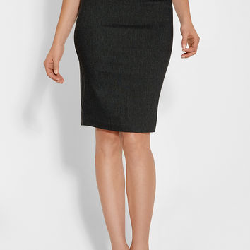 pencil skirt with button tabs