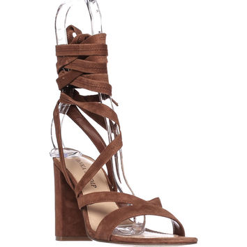 Ivanka Trump Kieran Lace Up Gladiator Sandals, Dark Brown, 6.5 US