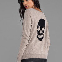 360 Sweater Luther Skull Cashmere Pullover in Heather Camel/Black from REVOLVEclothing.com