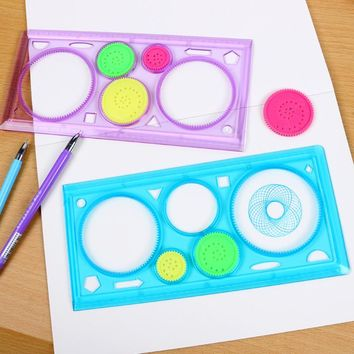 1Pcs Spirograph Geometric Ruler Art Sets Creative Gift For Children Drafting Tools Stationery For Students Drawing Toys Set