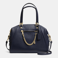PRAIRIE SATCHEL WITH CHAIN IN PEBBLE LEATHER