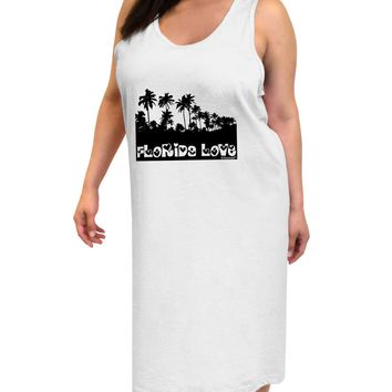 Florida Love - Palm Trees Cutout Design Adult Tank Top Dress Night Shirt by TooLoud
