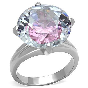 WildKlass Stainless Steel Ring High Polished (no Plating) Women AAA Grade CZ Multi Color