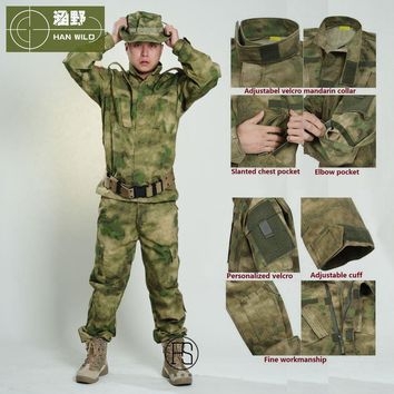 2017 US Army BDU Military Uniform Camouflage Tactical Shirts & Tactical Pants CS Field Army Camo Hunting Suit USMC CP ACU ATACS
