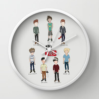 Youtube Boys Wall Clock by Natasha Ramon | Society6