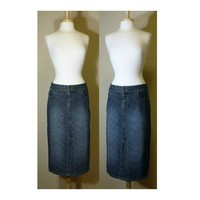 Women's Skirt, maxi skirt, denim skirt, long skirt, jean skirt, ladies skirt, surfer, Billabong