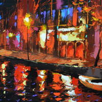 Night contemplation. High Quality Print on Canvas, Dmitry Spiros, living room decor wall art, bedroom decor, home decor, house decor.