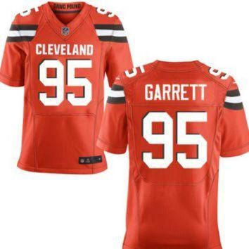 ICIKWV6 Men's Cleveland Browns #95 Myles Garrett Orange Nike NFL Elite Jersey