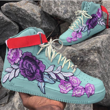 Custom painted and hand sewn Air Force ones