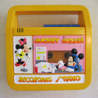 Mickey Mouse Disney Tape Recorder Player