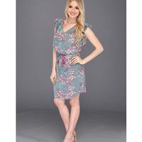 Jessica Simpson Flutter Sleeve Dress with Shirttail Hem Capricious Cabaret - Zappos.com Free Shipping BOTH Ways
