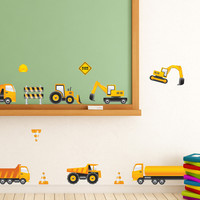 Nursery wall decals - Caution: Kids at Work