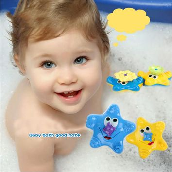 2017 Kawaii Kids Children Bathing Water bath Toy Starfish Pattern Baby Sassy Toys Cute Swimming Funny Bath Toys