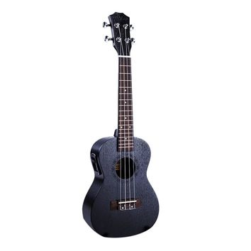 23 Inch Black Electric Concert Ukulele 4 Strings Mahogany Panel Ukelele Uke Hawaii Guitar Musical Instruments