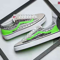 VANS STYLE 36 STUSSY Mean Eyed Cat Casual Shoes Men And Women White Cloth Shoes G-CSXY
