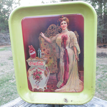 Vintage Coca Cola 75th Anniversary Metal Standard Serving Tray-1903 Lillian Nordica Reproduction--No. 61 of 1000--Nostalgic Advertising Tray