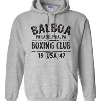 Balboa Box ing Club Vintage Fitness Boxer Sweatshirt mens BALBOA BOX ING CLUB ROCKY Hoodie US standard plus size S-3XL