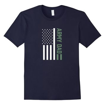 USA US Flag Proud Army Dad Military Freedom T Shirt