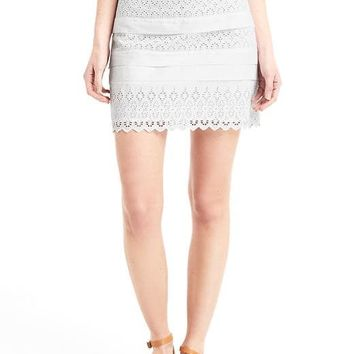 Eyelet lace mini skirt | Gap