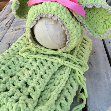 Bunny Hat, Baby, Baby Bunny, Easter Photography Prop, Bunny Hat, Easter, Photo Prop, Easter Bunny, Blanket, Bunny, Green Bunny