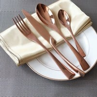 Rose Gold Color Flatware