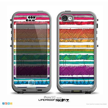 The Crayon Colored Doodle Patterns Skin for the iPhone 5c nüüd LifeProof Case